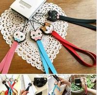 Wholesale Sweet Cute Cat Mobile Cell Phone Straps Charms Camera Straps flash strap Colors