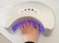 uv led nail lamp - 2011wholesale New Arrival Brand WHITE D12watt Professional LED UV Gel Curing Lamp nail uv lamp