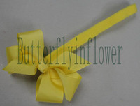 Wholesale Fashinable Grosgrain posh Ribbon Hair Bow Headbands One Size Fit All Colors