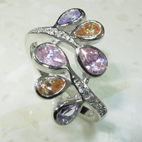 Wholesale 6colors GEMSTONE Silver Plated RING R211 SZ