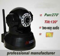 Wholesale PTZ Wifi Camera IP camera With two way audio CMOS wireless camera Pan Tilt network IP camera
