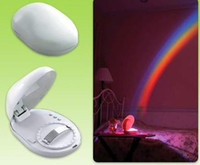 Wholesale 10pcs Romantic LED Rainbow Projector Color Night Lamp Light