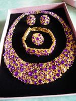 Fashion Jewelry Sets H045 Purple Zircon Mosaic Luxury Alloy ...