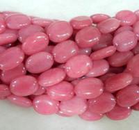 Wholesale 18mm Pink Morganite Gem Oval Loose Bead