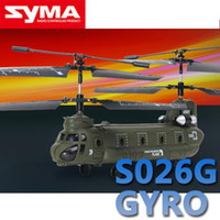 Wholesale Syma S026G S026 CH Micro Chinook RC Helicopter RTF Built in Gyro
