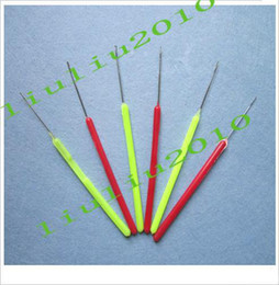 Wholesale Feather Extensions Needle Pulling Needle Plastic Handle Hair Extension Tools