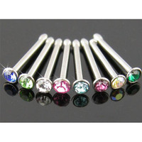 Wholesale 18g ear stud body jewelry body piercing jewelry nostril nose bone nose ring