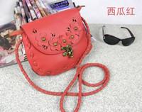 Red Women Plain Hot New @ Qualuty RED Sling One Shoulder Bag Flower Handbag Designer Bags Women Messenger 10 Colours