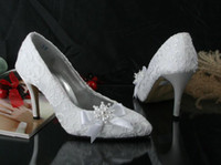 color shoe laces - High heel bridal shoes pointed toe wedding shoes lace dress shoes close toe shoe simulated pearl custom color fast shipping