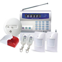 armed guard alarm - Partial Arm disarm GSM Wireless Alarm System LCD Display Fire Smoke Detector Home Security Guard SG