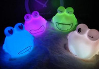night light auto expressions - 3pcs frog expression mini colors auto Changing LED Candle Night Light Multi Color flash litht