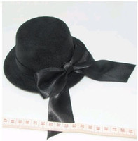 Wholesale brand New black Clip Cute Mini top Hat BOWKNOT Party Cap