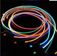 Wholesale colours fashion lighting up LED led Shoelaces shoe lace laces