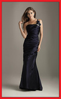 Wholesale Wedding Bridal Bridesmaid Ball Gown Prom Dress Sleeveless A Line US Size Sweetheart One Shoulder New
