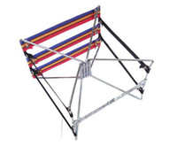 Wholesale Portable camp chair folding convenient fishing tourism steel wire stool free shippi