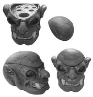 Wholesale Skull Type Hard Resin Tattoo Ink Cup caps Holder promotion tattoo accessories