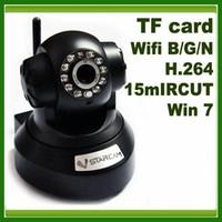 Wholesale Wireless IP Camera CCTV wifi BGN PTZ IR H TF Memory SD card storage IRCUT homealarm