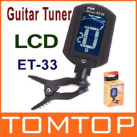 Wholesale LCD Auto Mini Digital Guitar Tuner Clip on Chromatic Bass Violin Ukulele Tuners A0 HZ A6 HZ I34