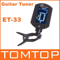 Guitar Clip-on Black Auto Mini Digital Tuner ET-33 For Guitar Chromatic Bass Violin Ukulele A0(27.5HZ)-A6(1760HZ) I34