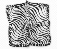 Wholesale Factory price silk kerchief elegnant zebra stripe scarf woman s accessories top quality