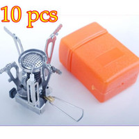Wholesale 10pcs New Picnic Stove Camping Stove Gas Powered Butane Propane Stove Free EMS Shipping
