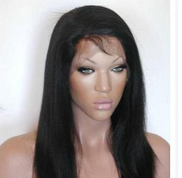 Wholesale top quality yaki straight color b indian remy full lace wig indian hair full lace wigs