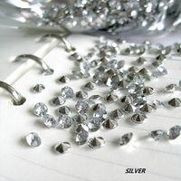 Wedding Faux acrylic Brilliant hot selling!Free shipping-1000pcs 6.5mm 1Carat Silver Diamond Confetti Wedding Party Decoration crystal bead