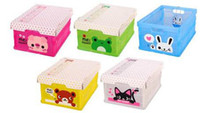 Wholesale Folding storage collecting box Container Organizer holder Drawers frog bear cat rabbit