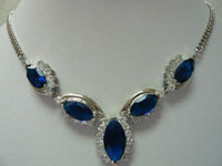 Wholesale Charming jewellery blue gem necklace pandent