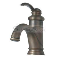 Wholesale Sink Handle Antique Brass Centerset Bathroom Sink Faucet