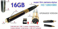 Wholesale NEW GB GB SPY Video Record Camera Pen HD DVR Micro SD Card Hidden from lihuangy