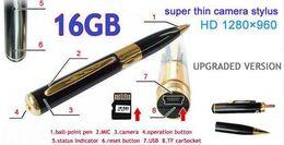 Enregistrement vidéo cachée à vendre-NOUVEAU 16GB / 4GB SPY Enregistreur vidéo Pen HD DVR carte Micro SD caché de lihuangy
