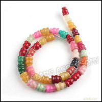 Wholesale Straight Hole Colorful Bead Charms Jade Fit Making Bracelet Necklace mm per