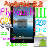 Wholesale 10 quot Flytouch Epad Android tablet pc GPS WIFI Camera GHz flash Infortm X220 SuperPad D G