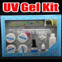 Wholesale Nail Art Acrylic UV GEL Pen Glue File Top Coat Tool Tips Kit Set