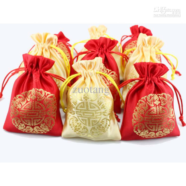 Wedding Favor Bags Cheap : Cheap Drawstring Wedding Favors Candy Bags Samll Gift Pouch Chinese ...