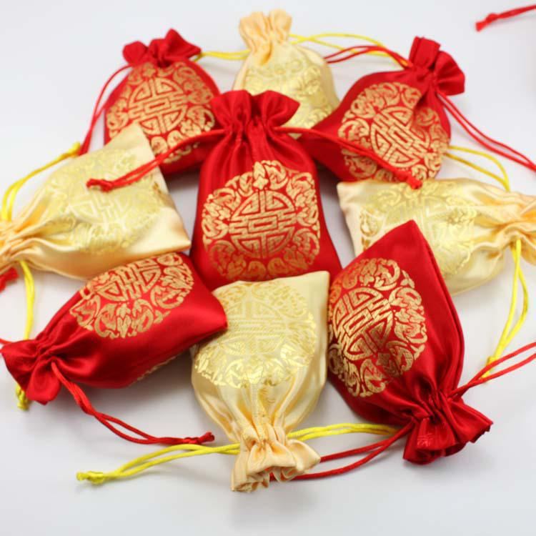 Wedding Gift Bags For Candy : Wedding Gift Pouch Candy Bags Packaging Bag Packing Bags Silk Gift ...
