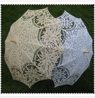 victorian parasol - wedding handmade ivory cotton SUN BATTEN victorian LACE PARASOL UMBRELLA H108