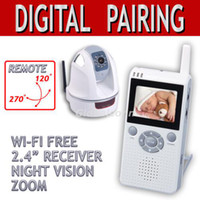 Wholesale 2 quot Digital Wireless Pan Tilt Baby Monitor PTZ Camera homealarm