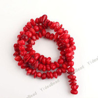 Wholesale 200pcs Red Coral Round Gemstone Charms Spacer Beads Fit Jewelry Bracelets Necklaces DIY