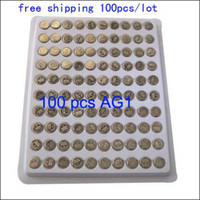 Wholesale 100 x AG1 SR621 LR621 SR621SW LR60 SR60 Battery Button Cell Battery