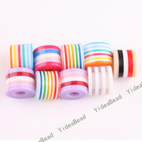 :11x8.5 mm Hole dia:4 mm  acrylic striped beads - 200 Hot Acrylic Striped Resin Spacer Charms Beads Colorful Diy Ball Bead Fit Bracelets mm