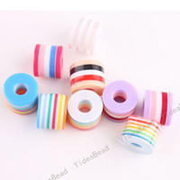 11x8.5 mm Hole dia:4mm acrylic striped beads - 500 Hot Acrylic Striped Resin Spacer Charms Beads Colorful Diy Ball Bead Fit Bracelets mm