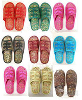 Wholesale Traditional Chinese Slippers For Women Silk Embroidered Bedroom Slipper pairs Free