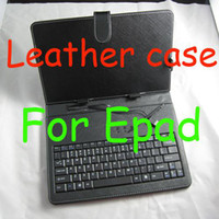 "Wholesale Sanei Usb - 7"" leather Flip Stand keyboard case USB cases for tablet pc VIA 8650 8850 ainol Sanei Onda 50pcs"