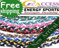 Wholesale New Baseball Sports Titanium Rope Braided Tornado Sport GT Necklace colors quot quot can OEM Size