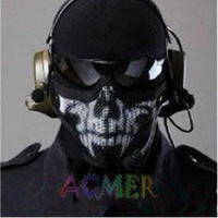 Wholesale CM01 Skull Mask Half Face Airsoft Protector Mask Cacique soldier mask metal Steel Wire mask