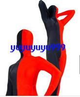 red zentai catsuit - Brand New Unisex Lycra Spandex zentai Suit costumes catsuit Black Red s xxxl