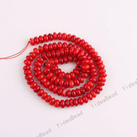 Wholesale 595pcs Hot Sale Oblate Red Coral Charms Bead Diy Loose Gemstone Beads Fit Bracelets mm