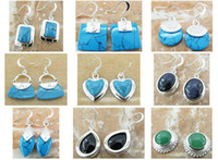 Wholesale Hot Good Quality new Silver Turquoise Earring fashion silver Jewelry